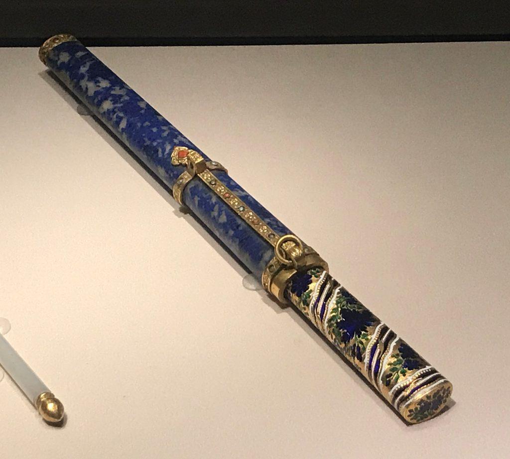 清・洋金燒藍柄果刀-漱芳齋-【重華宮へ入り】巡回展-成都博物館
