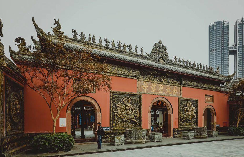 慈寺-古大聖慈寺-太古里の中-東風路-成都市-四川省-撮影:Zhangyan