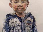 北方農民午後の姿-画家: 趙斌