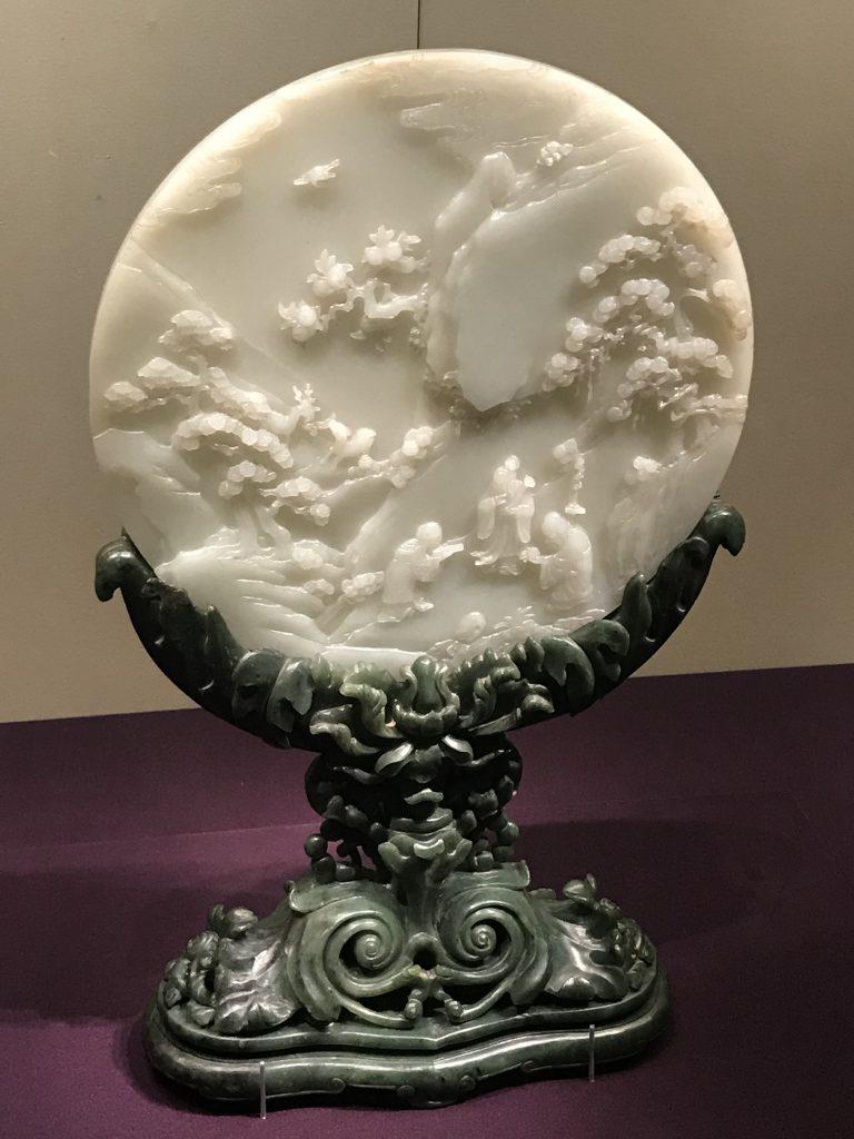 白玉三星図插屏-万寿盛典-特別展-金玉琅琅-清代宮廷の儀式と生活-金沙遺跡博物館