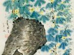 迎春-宋 · 韓琦-書・画:王英文-蘭里居士