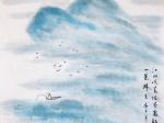 寿陽曲-江天暮雪-元代・馬致遠-書・画:王英文-蘭裏居士