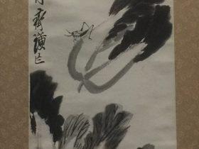墨筆白菜虫鶏図軸-齊璜-紙本-近現代-書画館-四川博物院-成都