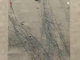 柳燕桃花図軸-張書旂-紙本-近現代-書画館-四川博物院-成都
