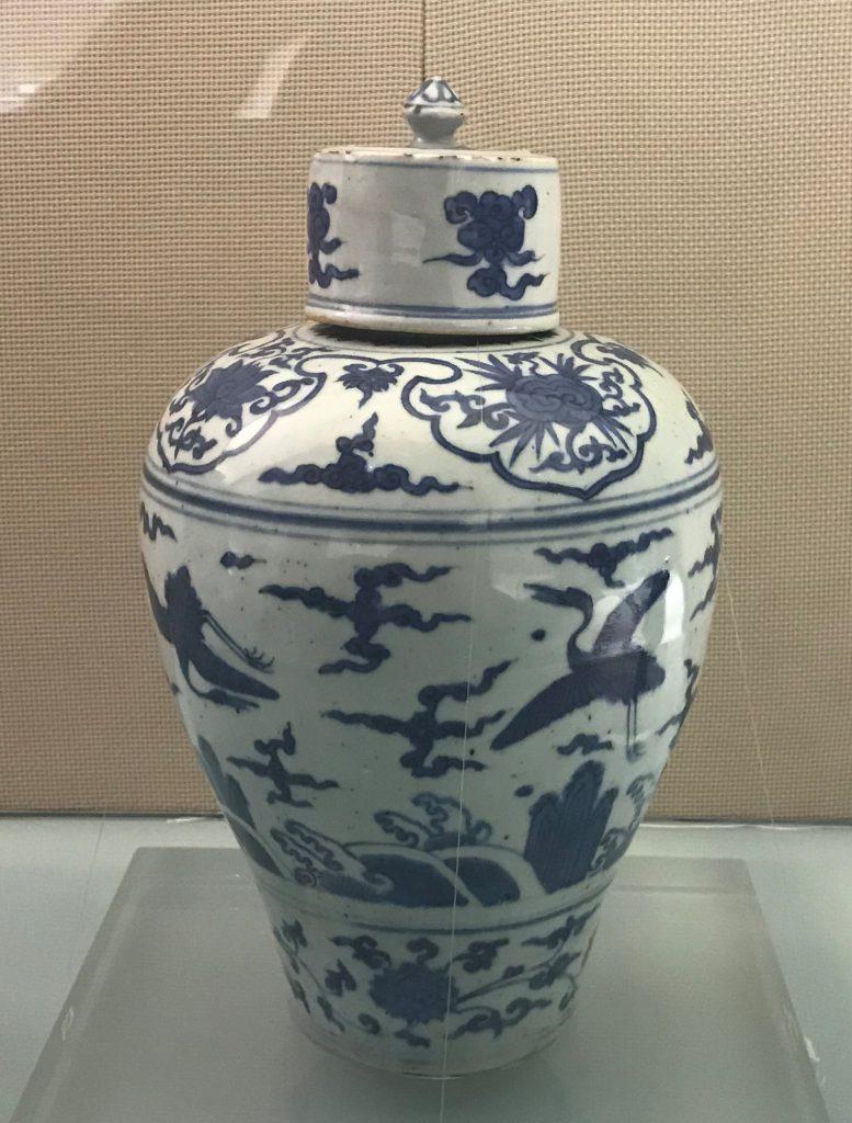 青花雲鶴海水紋梅瓶-明代晩期-陶瓷館-陶磁館-四川博物院-成都