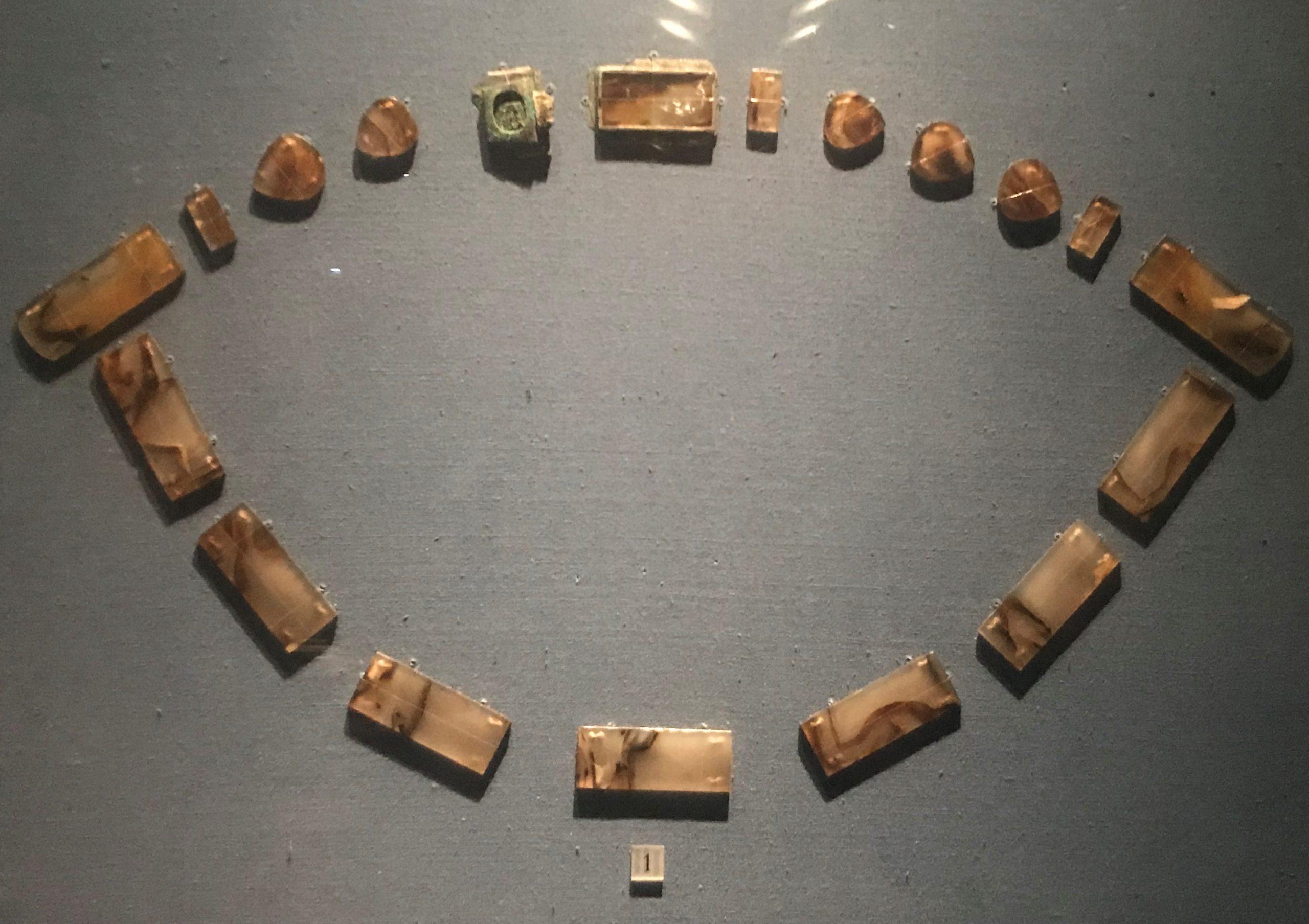 瑪瑙帶銙-明清時代-常設展F3-成都博物館