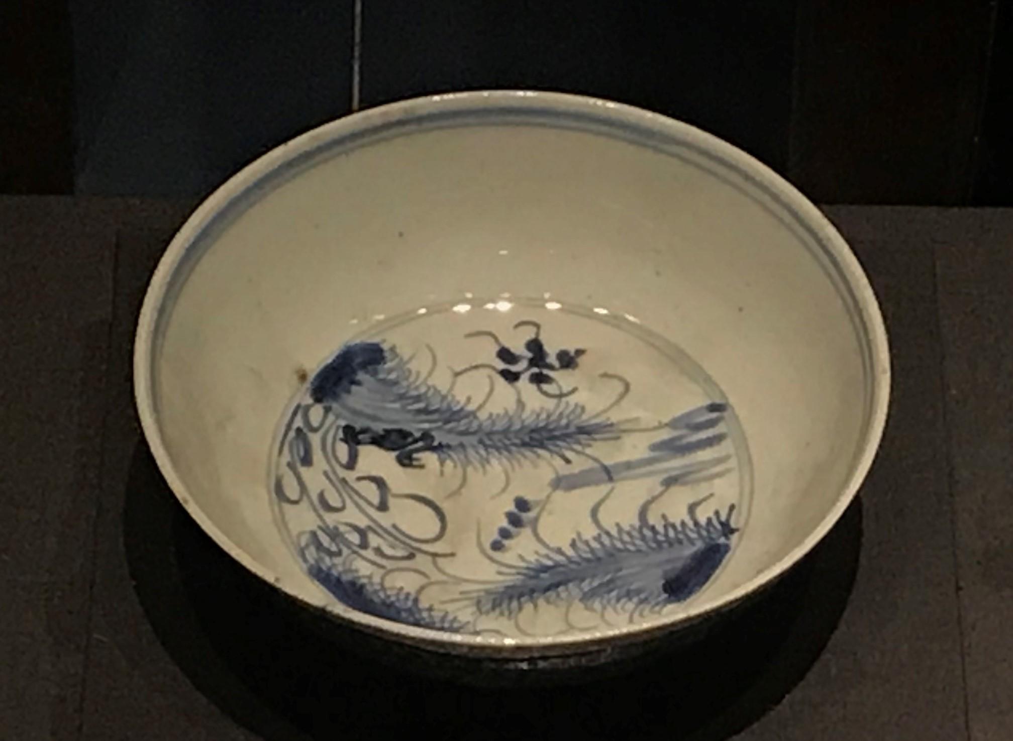 青花水草紋磁碗-明清時代-常設展F3-成都博物館