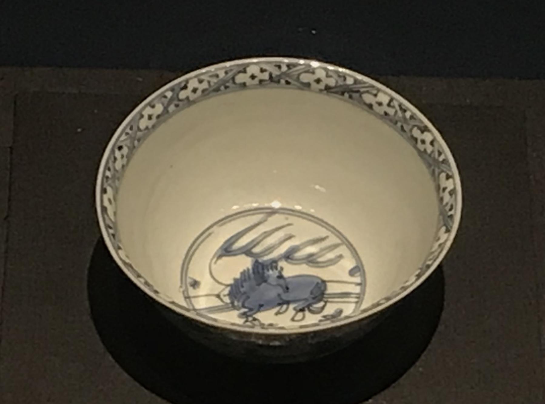 青花鹿紋磁碗-明清時代-常設展F3-成都博物館