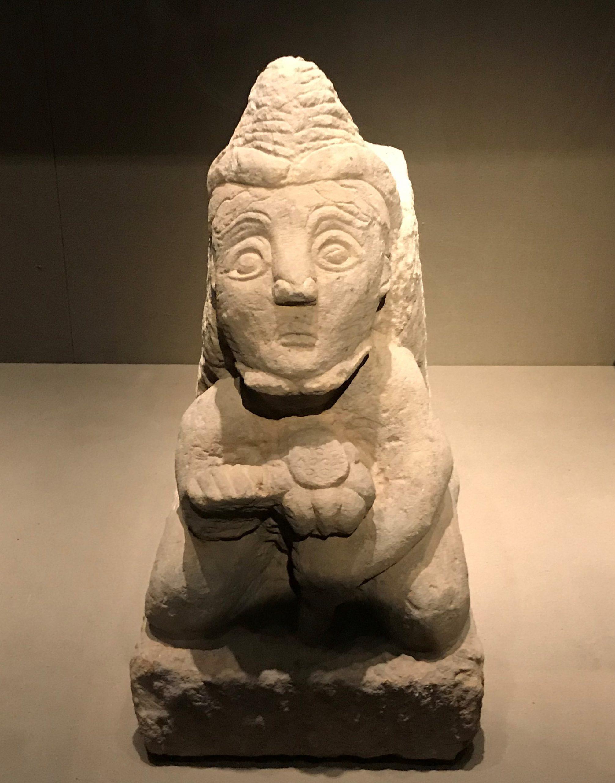 胡人形象石座-两漢魏晋南北朝-常設展F2-成都博物館