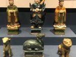 彩釉陶文官俑-彩釉陶虎-彩釉陶傘持ち将軍俑-彩釉陶羊-明清時代-常設展F3-成都博物館
