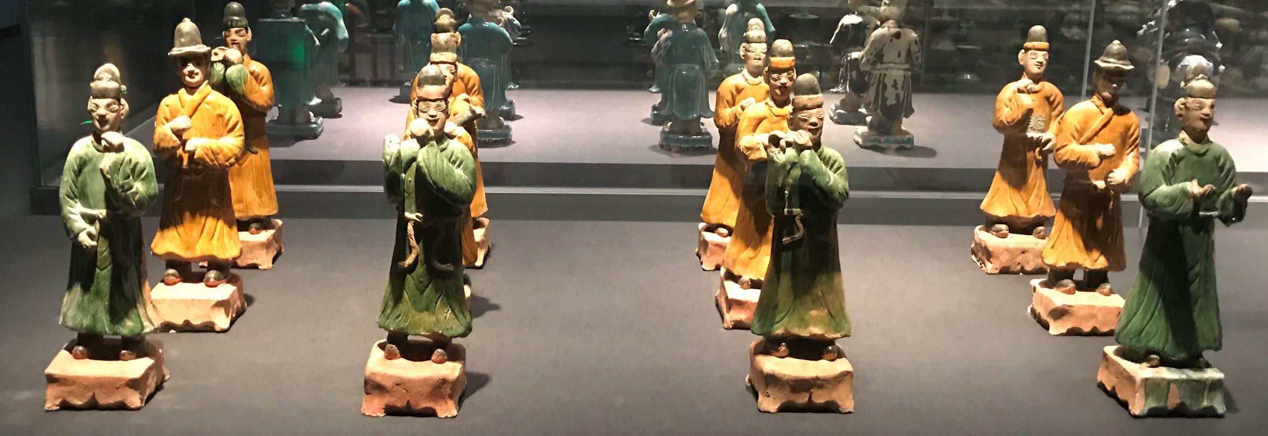 彩釉陶侍從俑2-明清時代-常設展F3-成都博物館