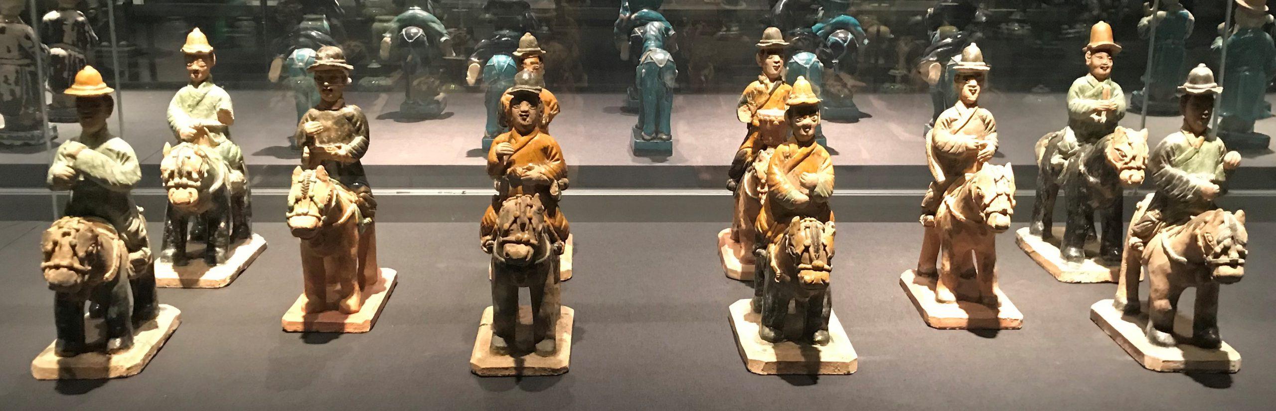 彩釉陶騎馬儀仗俑1-彩釉陶馬-明清時代-常設展F3-成都博物館