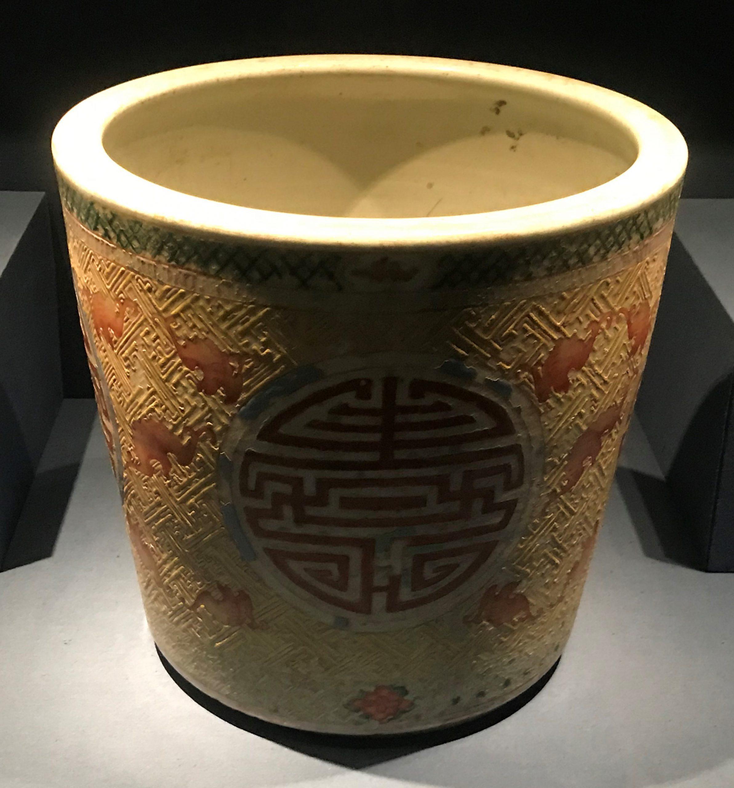 粉彩蝠紋寿字磁缸-明清時代-常設展F3-成都博物館