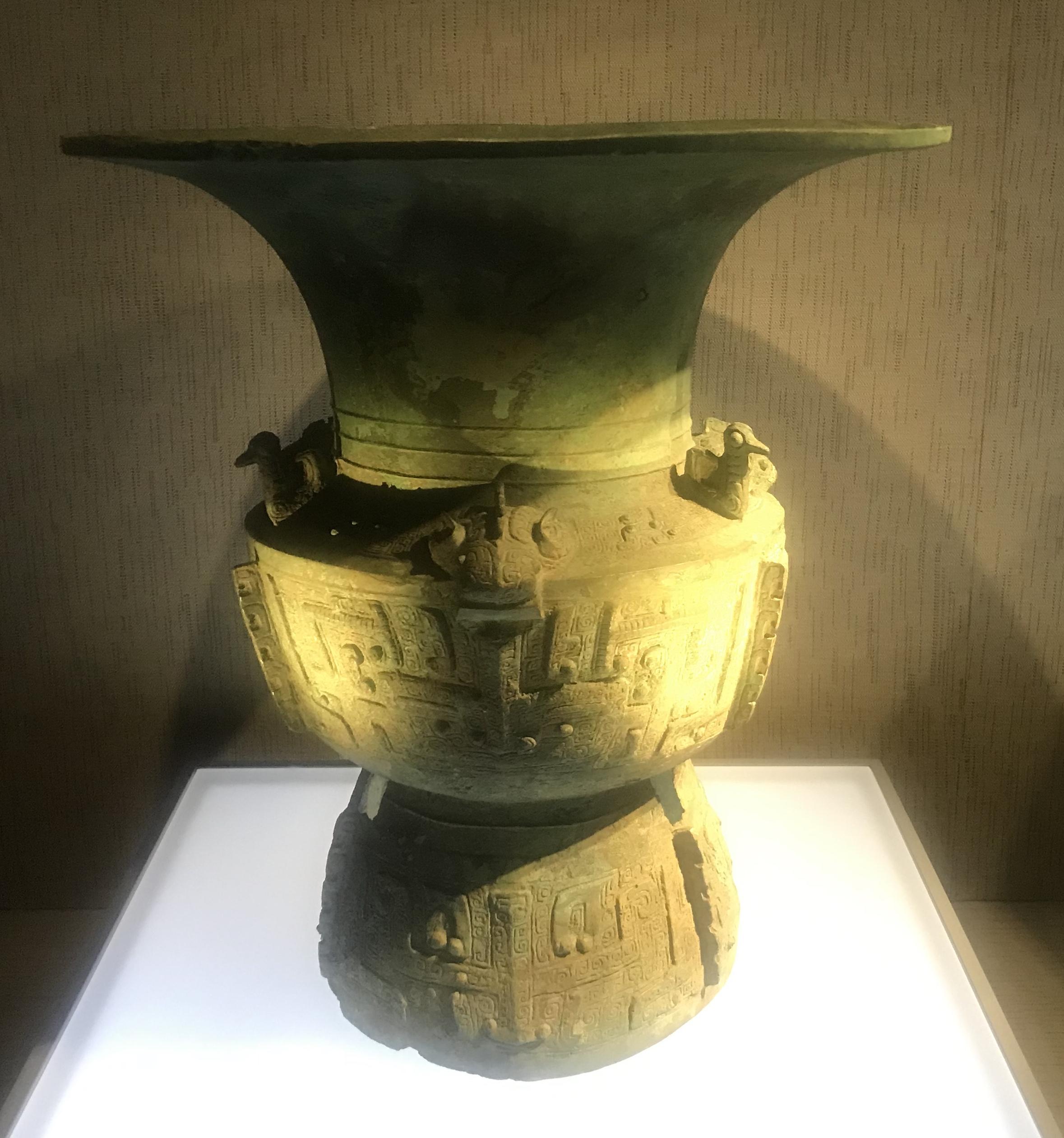 青銅尊2-青銅器館-三星堆博物館-広漢市-徳陽市-四川省