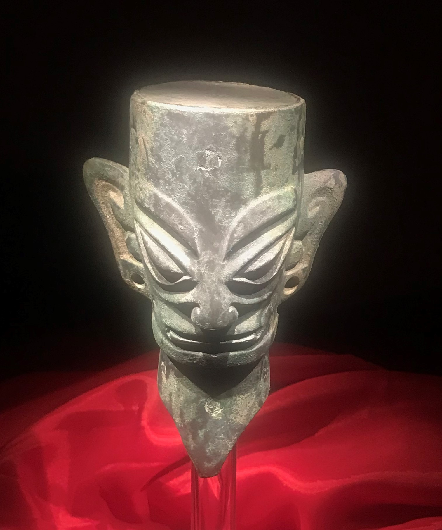 青銅人頭像7-青銅器館-三星堆博物館-広漢市-徳陽市-四川省