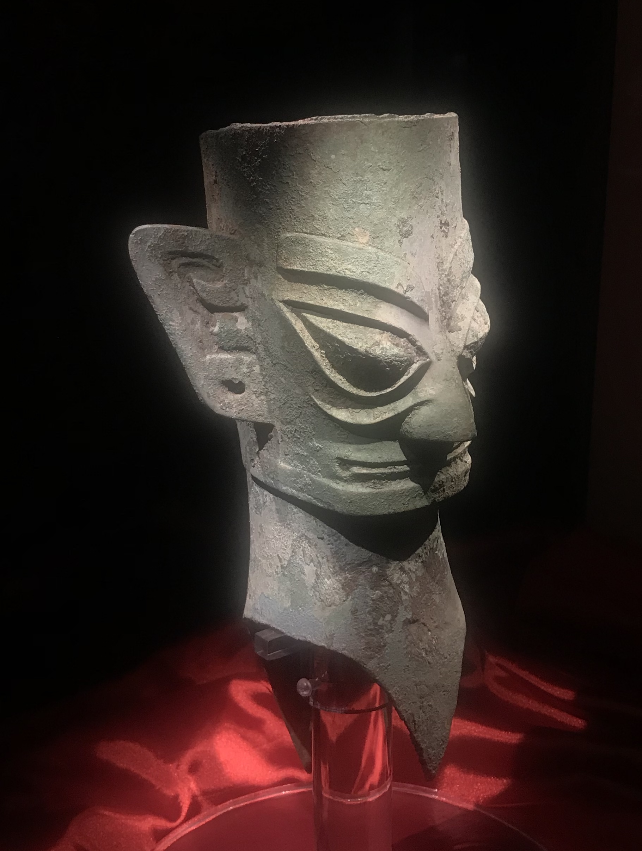 青銅人頭像10-青銅器館-三星堆博物館-広漢市-徳陽市-四川省