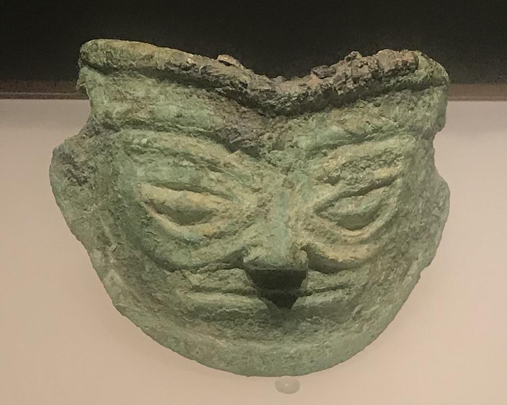 青銅人面具4-青銅器館-三星堆博物館-広漢市-徳陽市-四川省