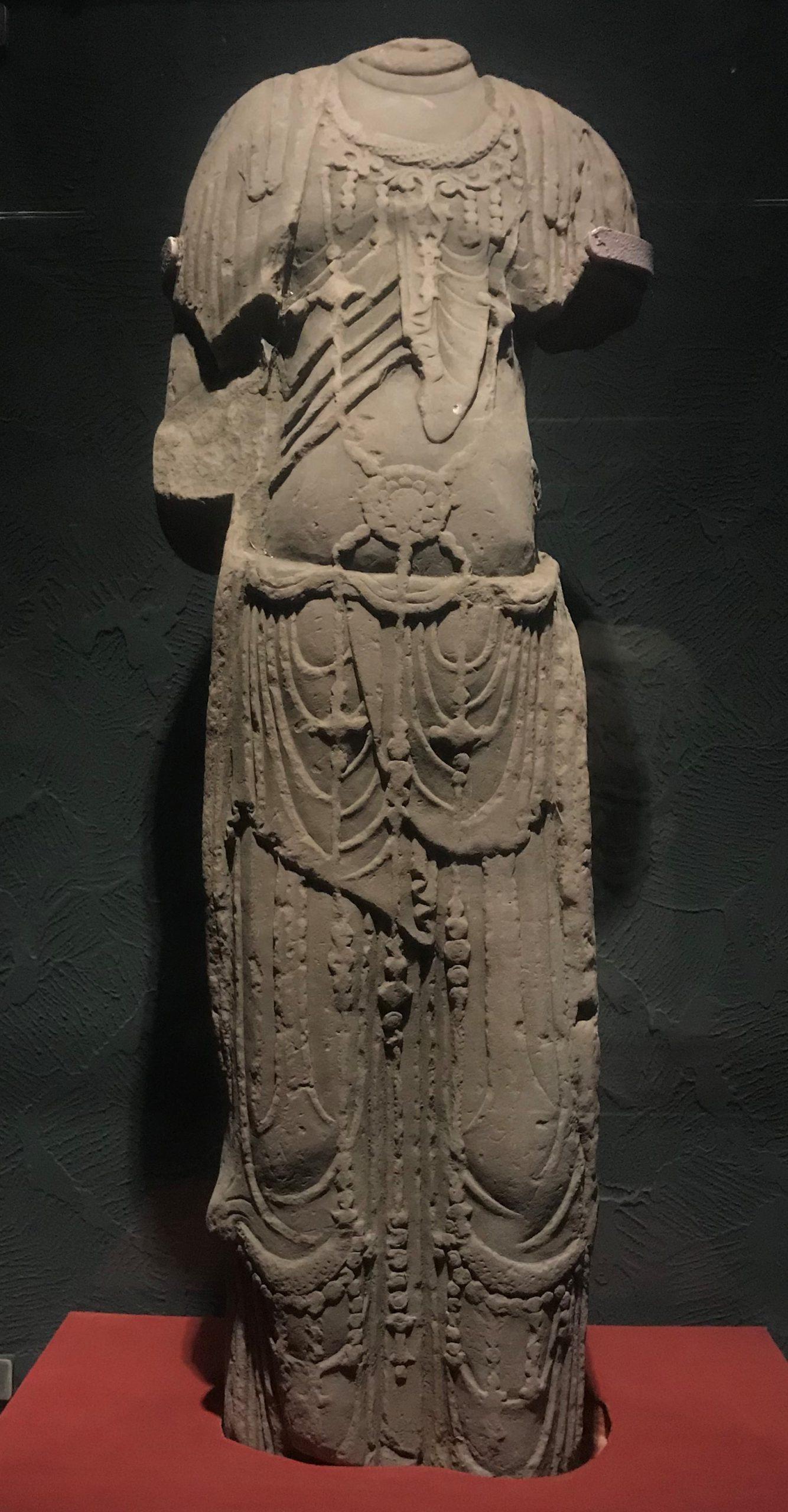 菩薩立像2-唐代-四川万仏寺石刻館-四川博物院-成都