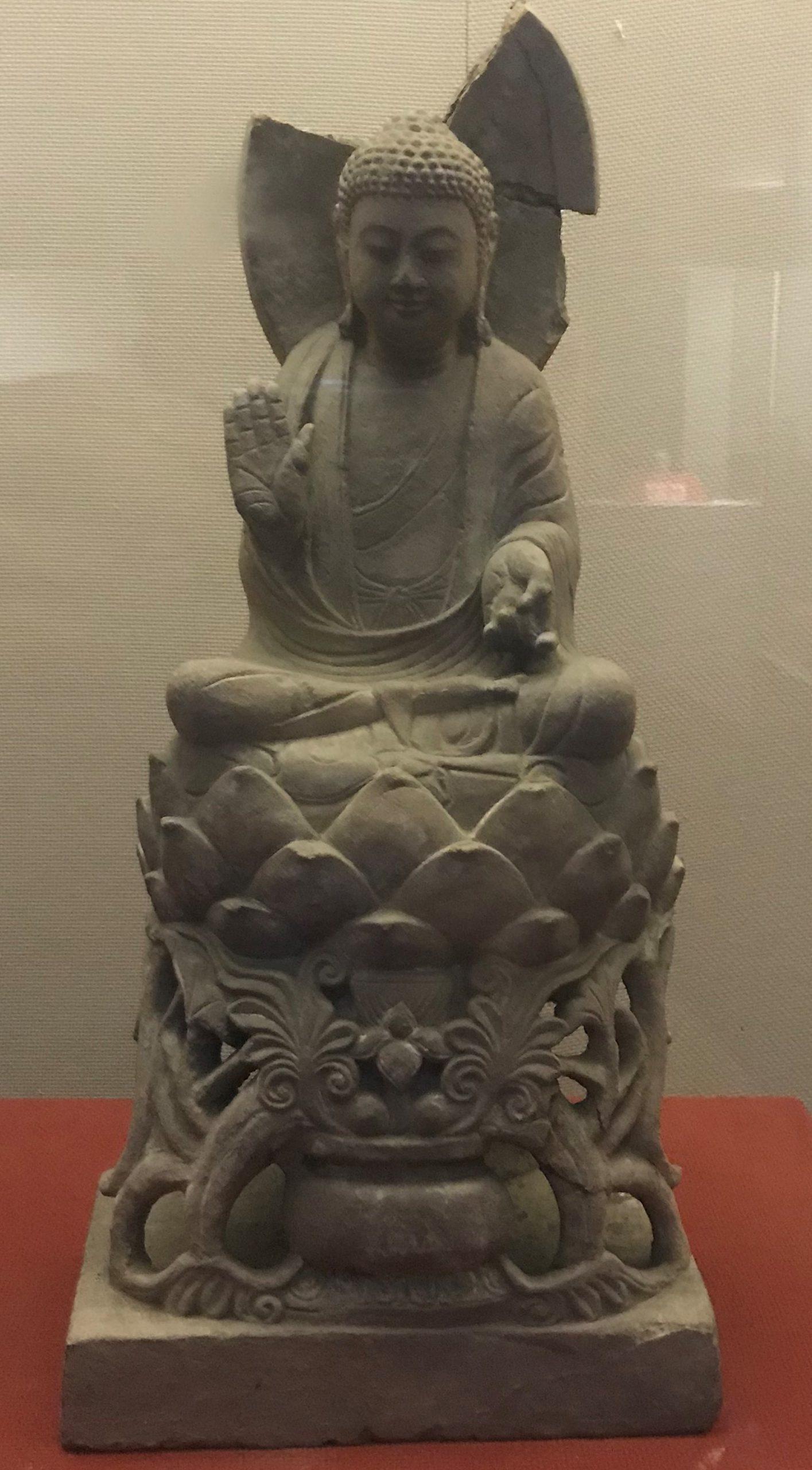 仏坐像3-隋・唐初期-四川万仏寺石刻館-四川博物院-成都