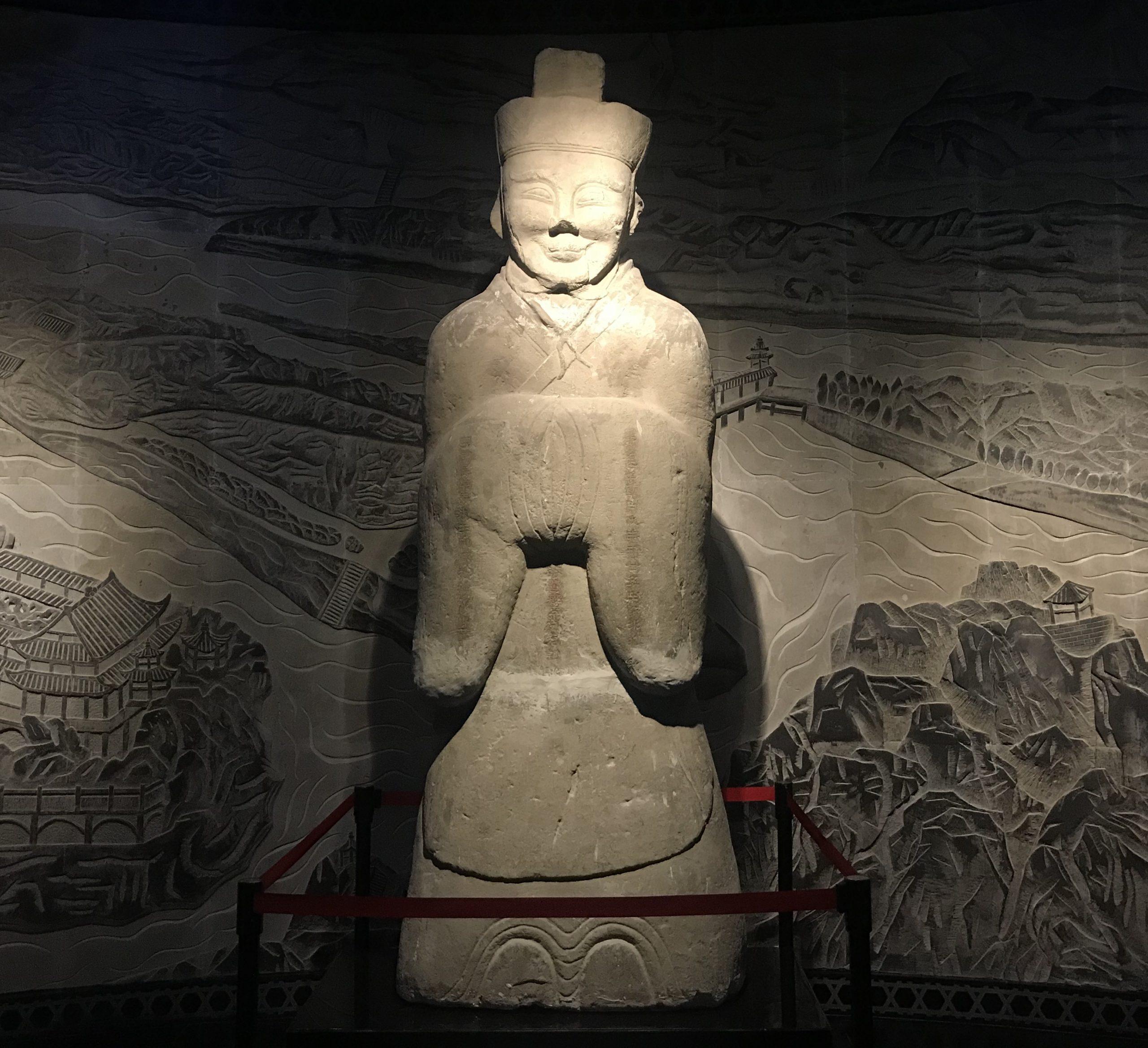李冰石像-東漢-都江堰市出土-四川漢代陶石芸術館-四川博物院-成都