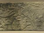 採蓮・漁獵画像レンガ-東漢-彭州市義和-四川漢代陶石芸術館-四川博物院-成都