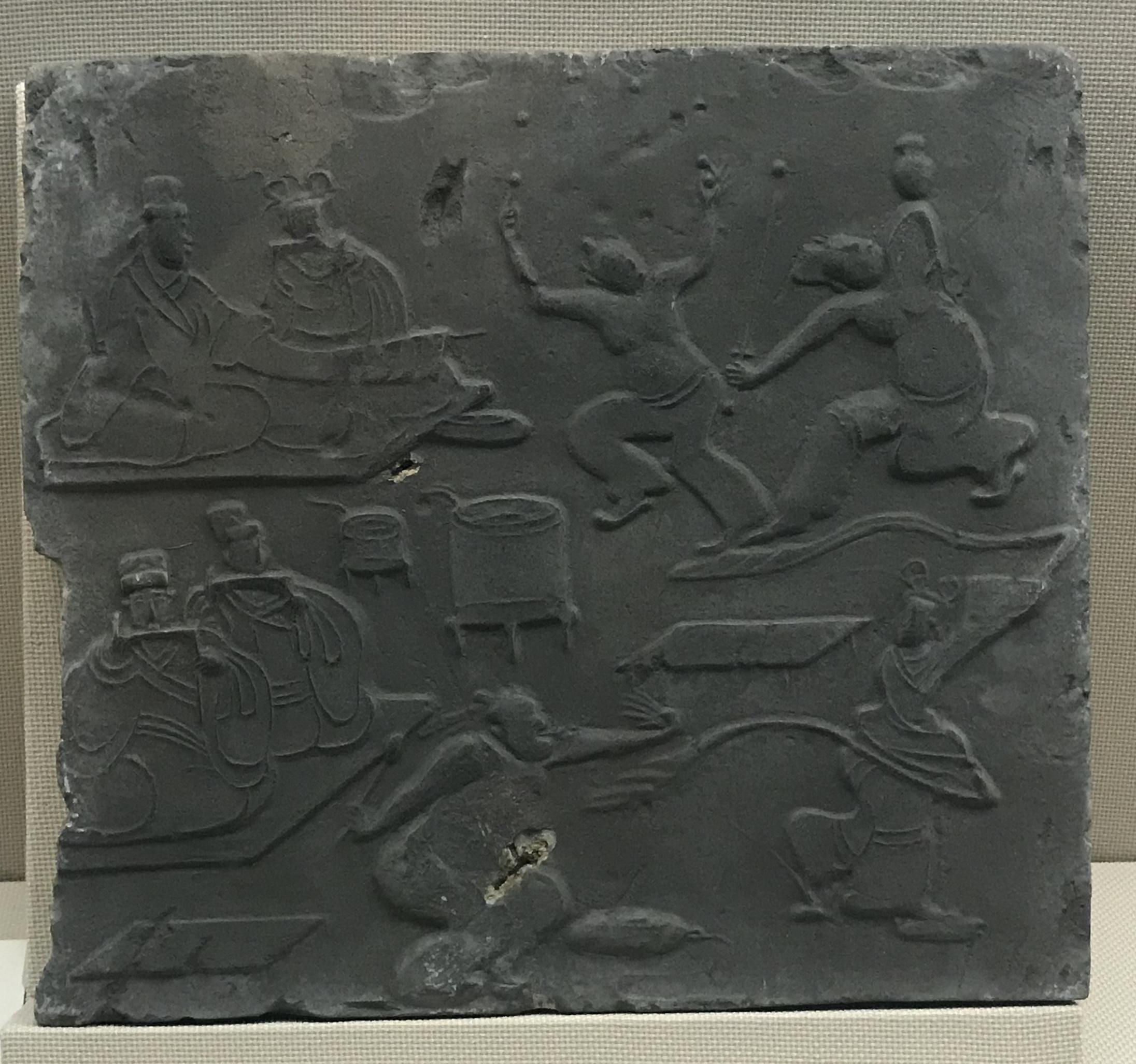 九剣宴舞画像レンガ-東漢-大邑県安仁出土-四川漢代陶石芸術館-四川博物院-成都