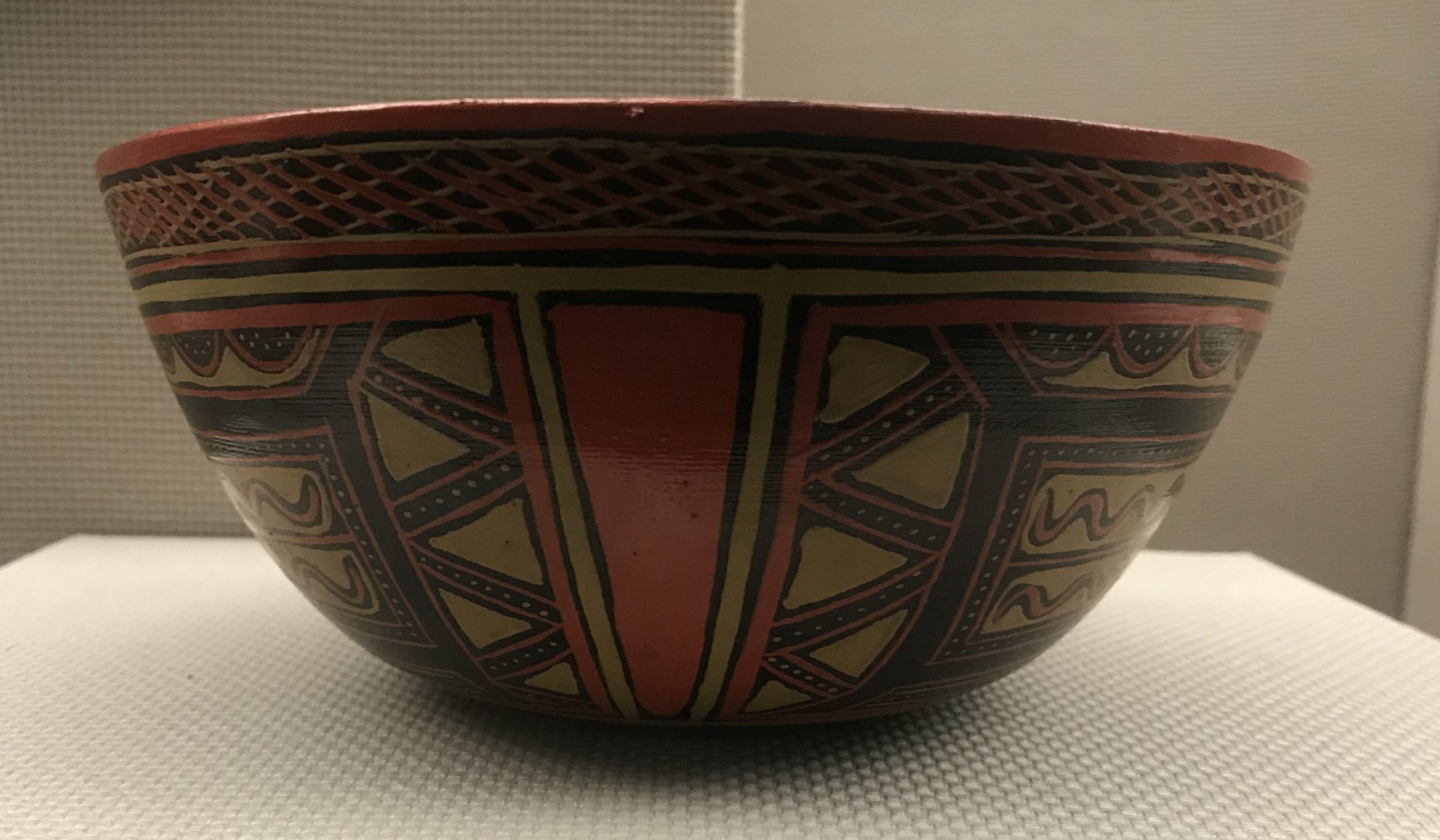 彩木碗-彜族漆器-四川民族文物館-四川博物館-成都