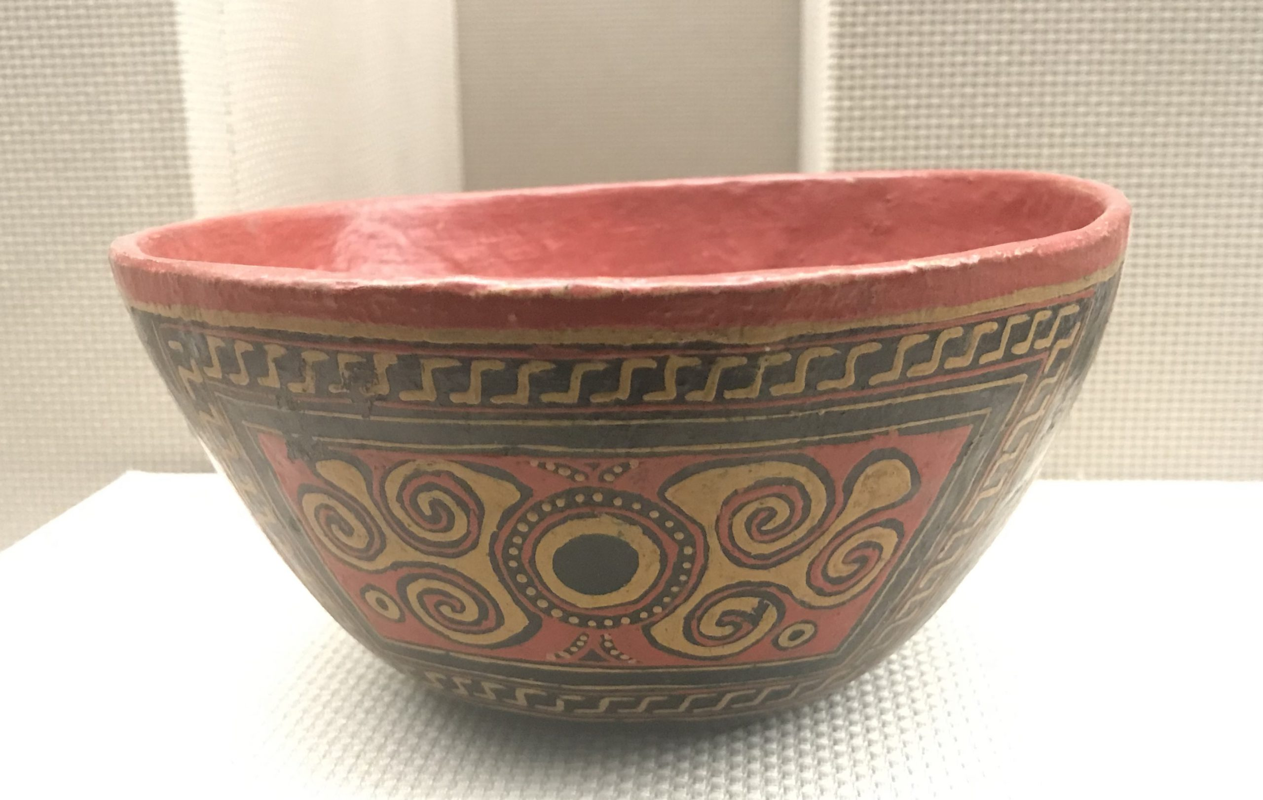 彩絵漆皮胎碗-彜族漆器-四川民族文物館-四川博物館-成都