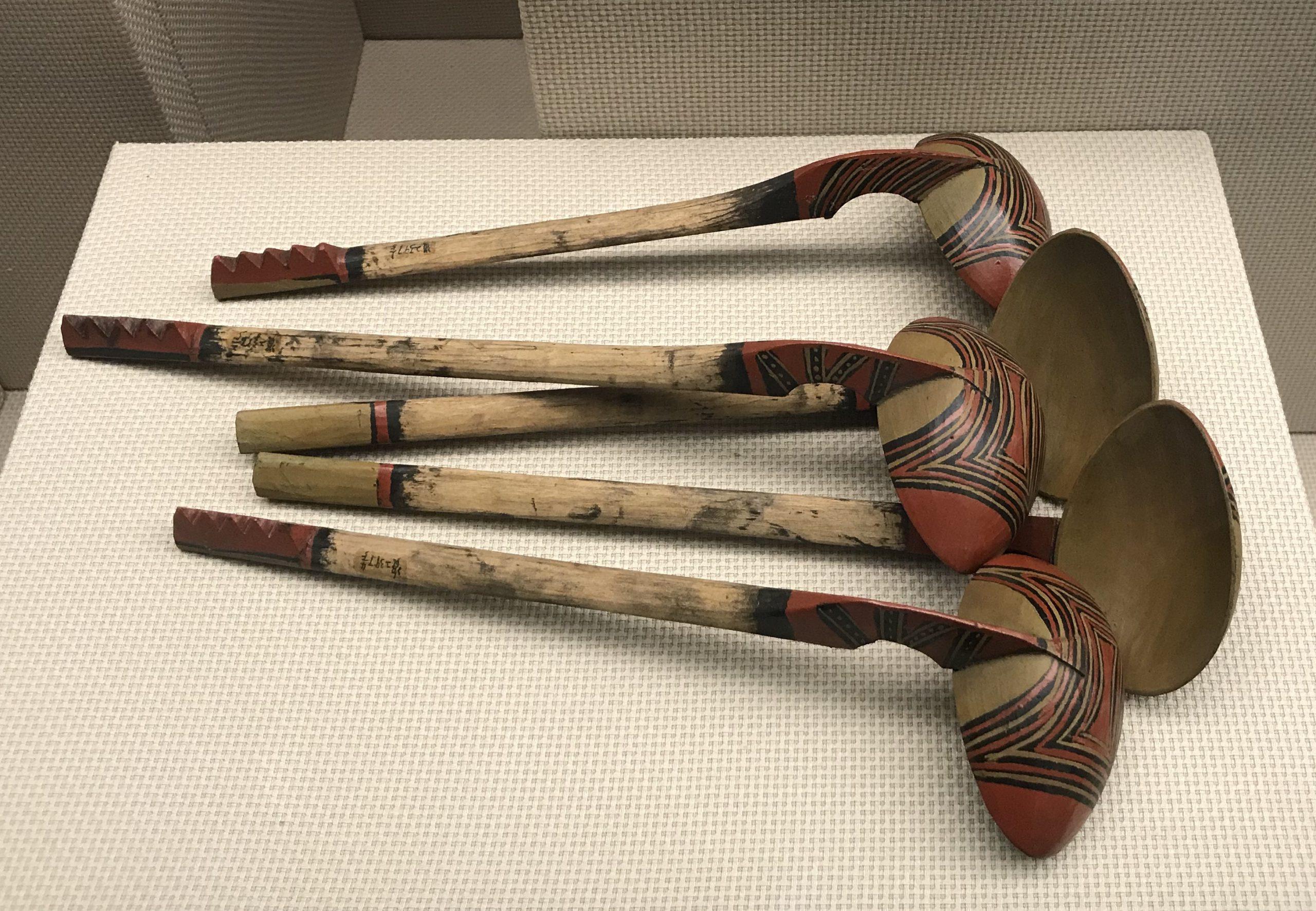 彩絵木勺-彜族漆器-四川民族文物館-四川博物館-成都