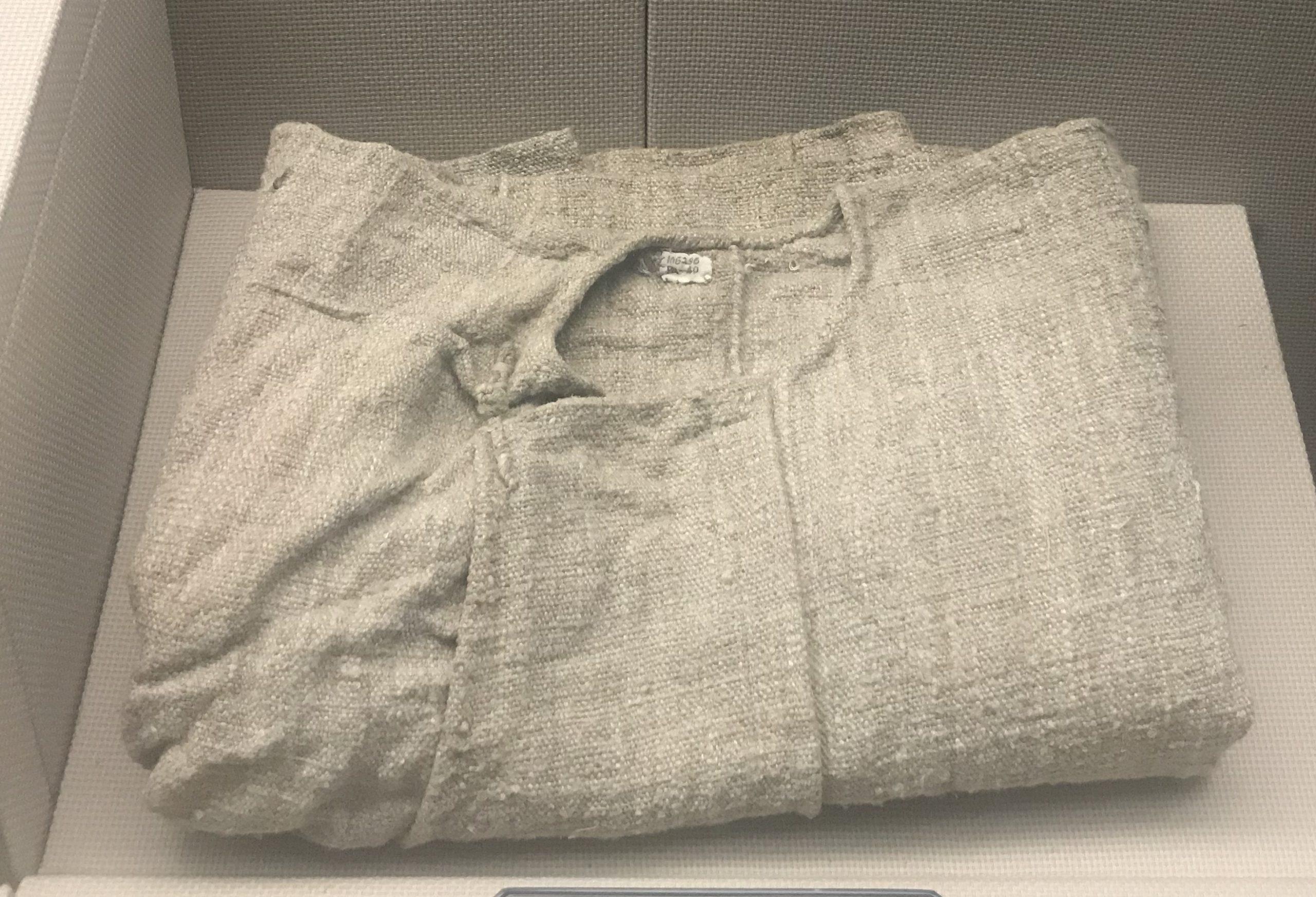 粗麻布男長衫-チャン族服装-四川民族文物館-四川博物館-成都