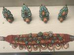 銀鍍金髪飾り-サンゴ頭飾り-チベット族アクセサリー-四川民族文物館-四川博物館-成都