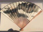 張大千倣巨然夏山図折扇-張大千芸術館-四川博物院-成都