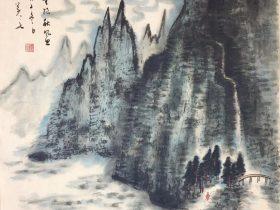 題稚川山水-唐代・戴叔倫-書画:王英文-南山老人