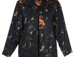 黑地印花羊毛卡其無袖旗袍-方格外套「海上の明月、軽い裾に風を追う-江南の貴族と海派チャイナドレス」上海大学博物館-海派文化博物館