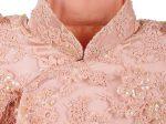 粉色蕾絲釘花卉珠片短袖夾旗袍「海上の明月、軽い裾に風を追う-江南の貴族と海派チャイナドレス」上海大学博物館-海派文化博物館