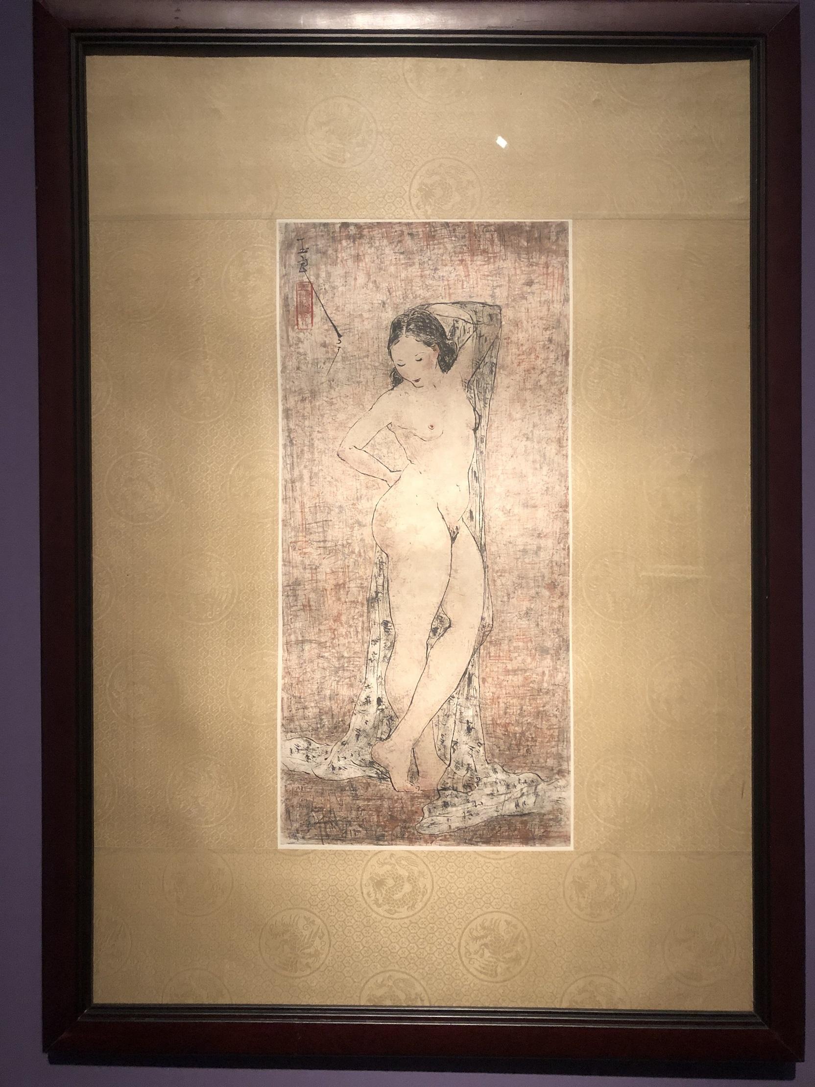 立っている裸婦-特別展【玉汝にする成功—潘玉良の芸術人生】成都博物館・安徽博物院
