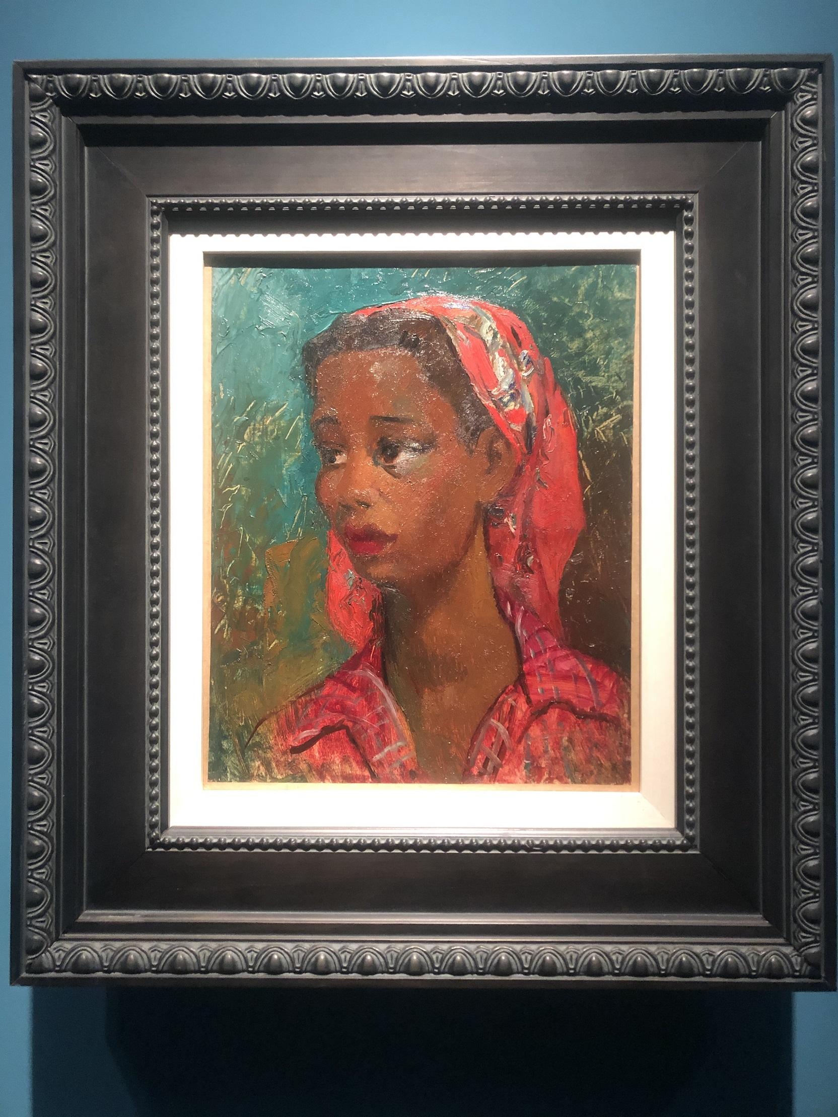 黒人女性像-特別展【玉汝にする成功—潘玉良の芸術人生】成都博物館・安徽博物院