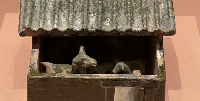 緑釉陶羊圏-東漢時代-特別展【食味人間】四川博物院・中国国家博物館
