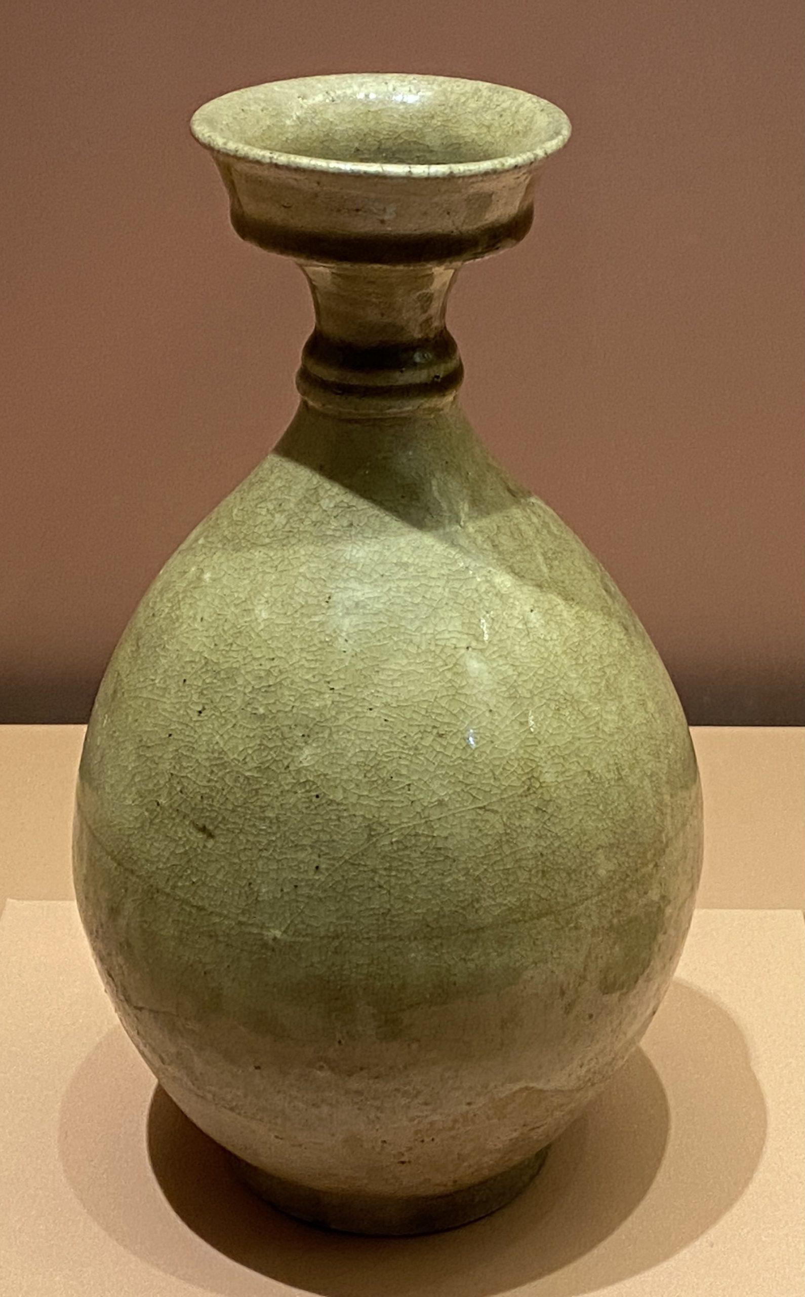 青釉盤口瓶-北朝時代-特別展【食味人間】四川博物院・中国国家博物館