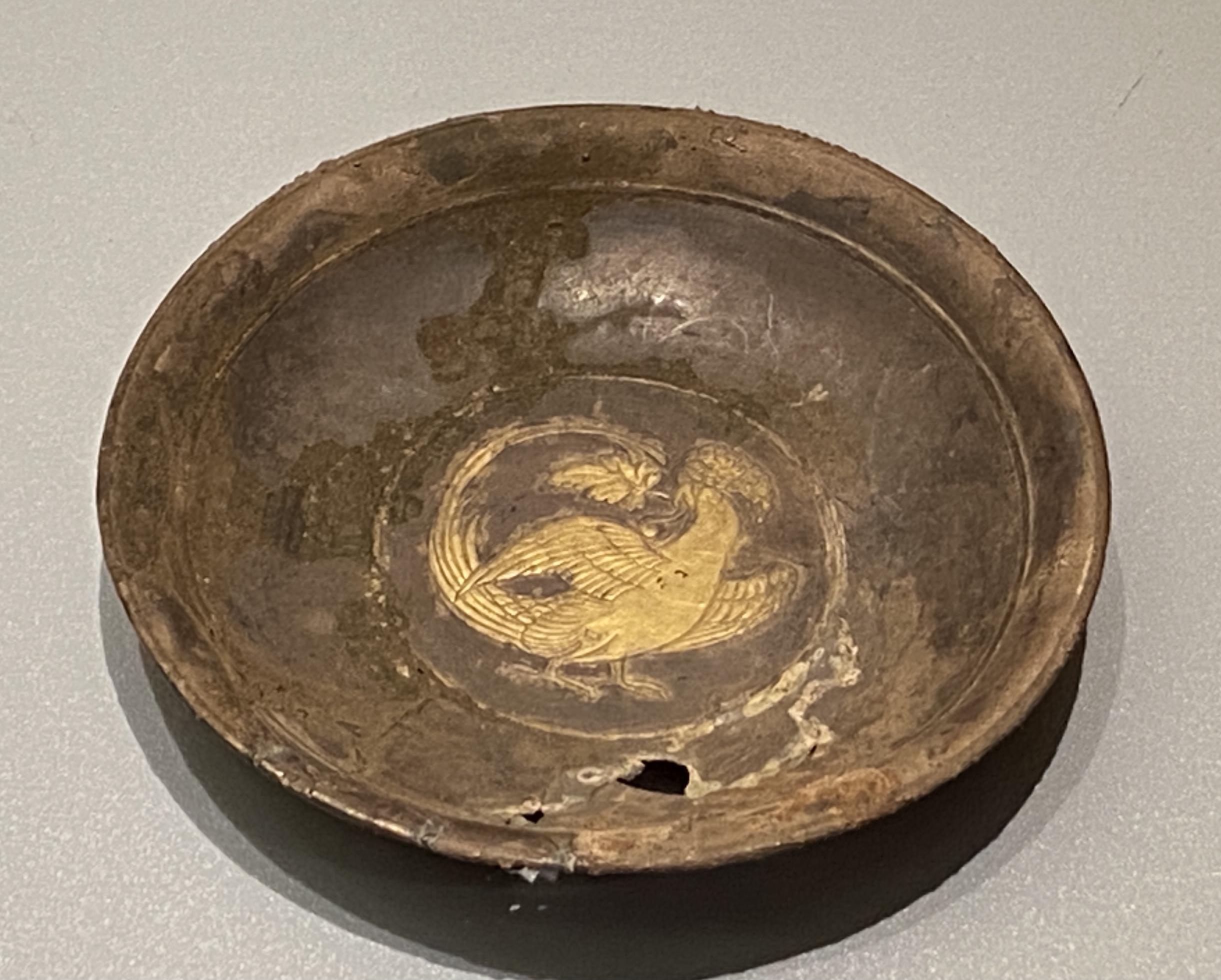 鎏金鸚鵡文銀盤-唐時代-特別展【食味人間】四川博物院・中国国家博物館