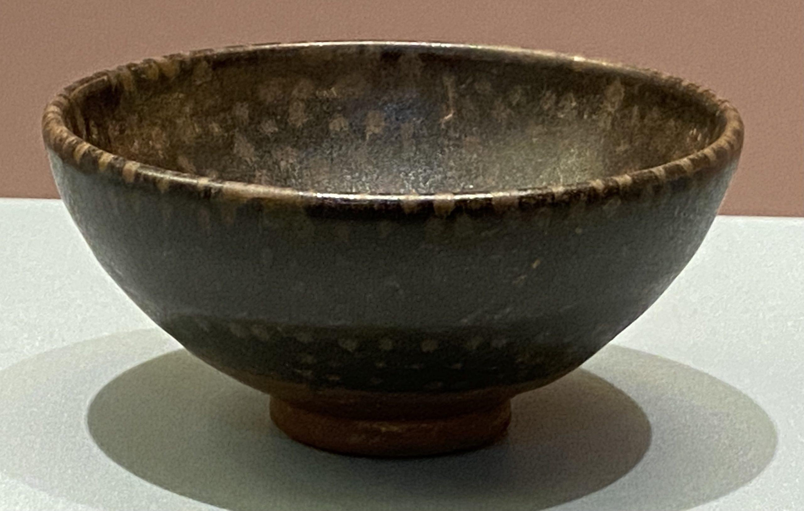 黑釉鷓鴣斑斂口磁碗-北宋時代-特別展【食味人間】四川博物院・中国国家博物館