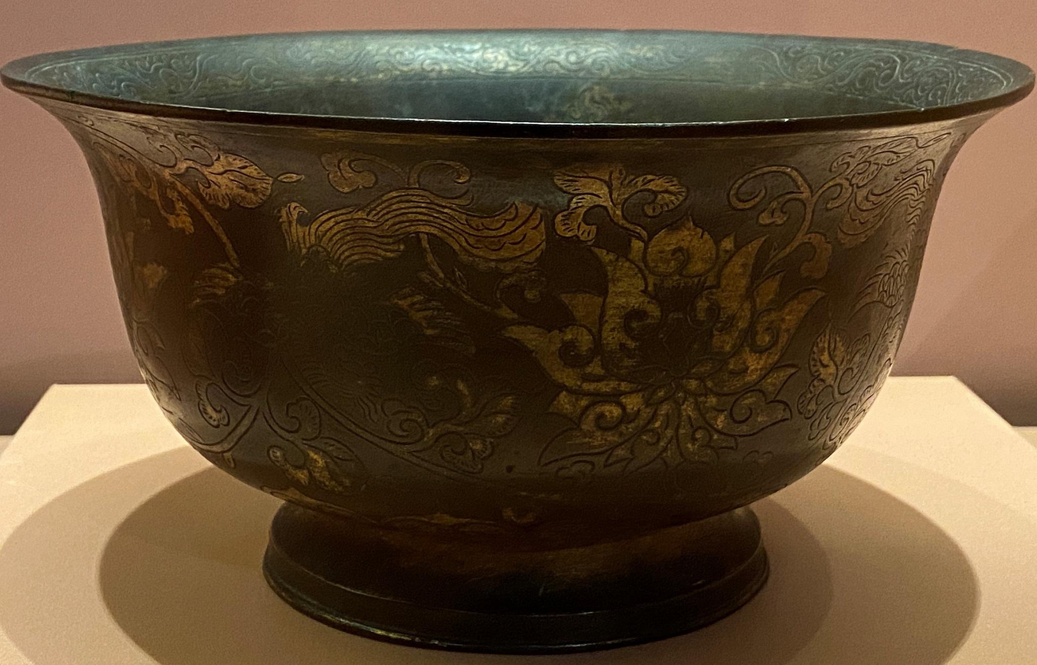 鍍金飛鸞牡丹紋銅碗-明時代-特別展【食味人間】四川博物院・中国国家博物館