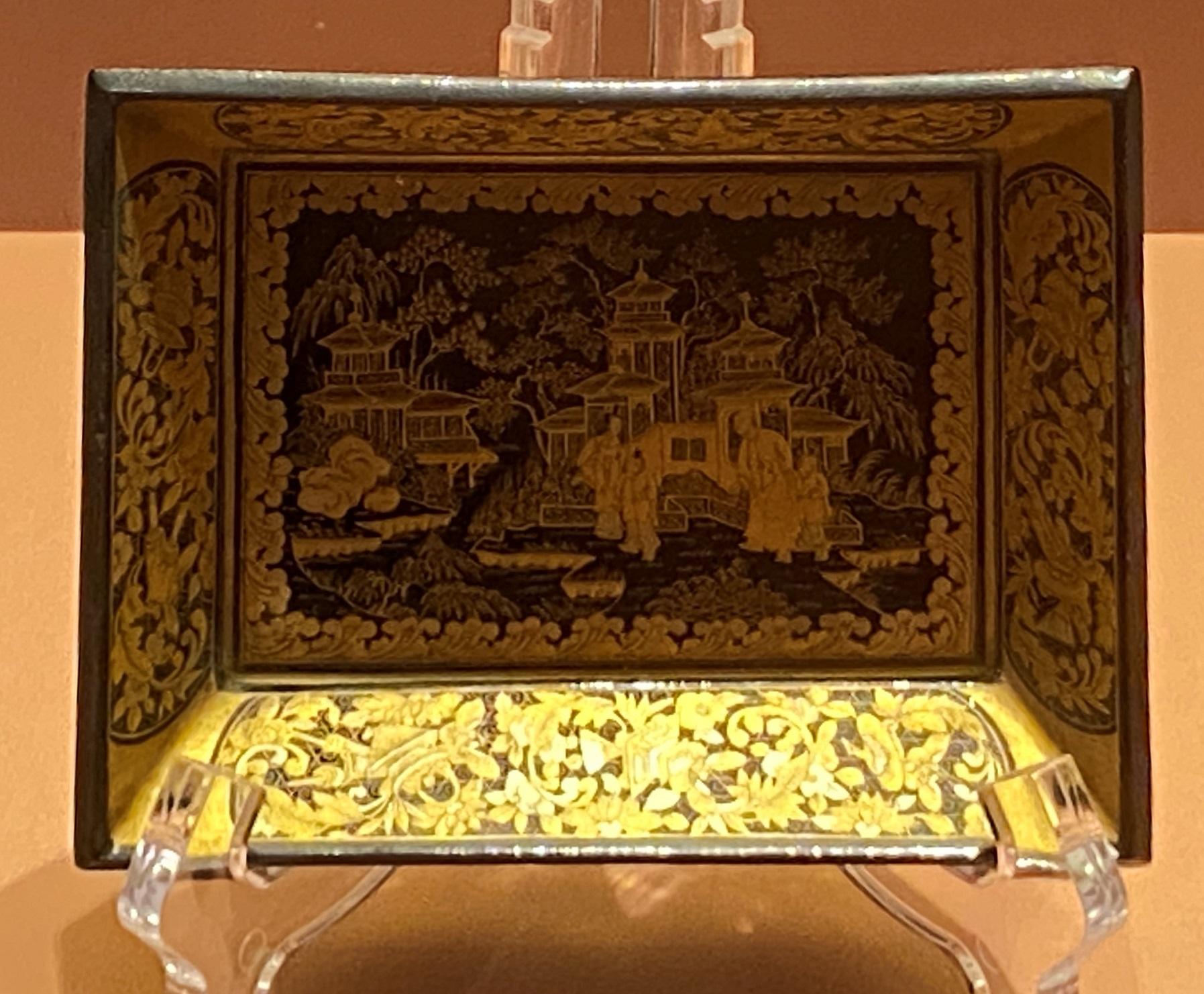 長方形描金漆碟-清時代-特別展【食味人間】四川博物院・中国国家博物館