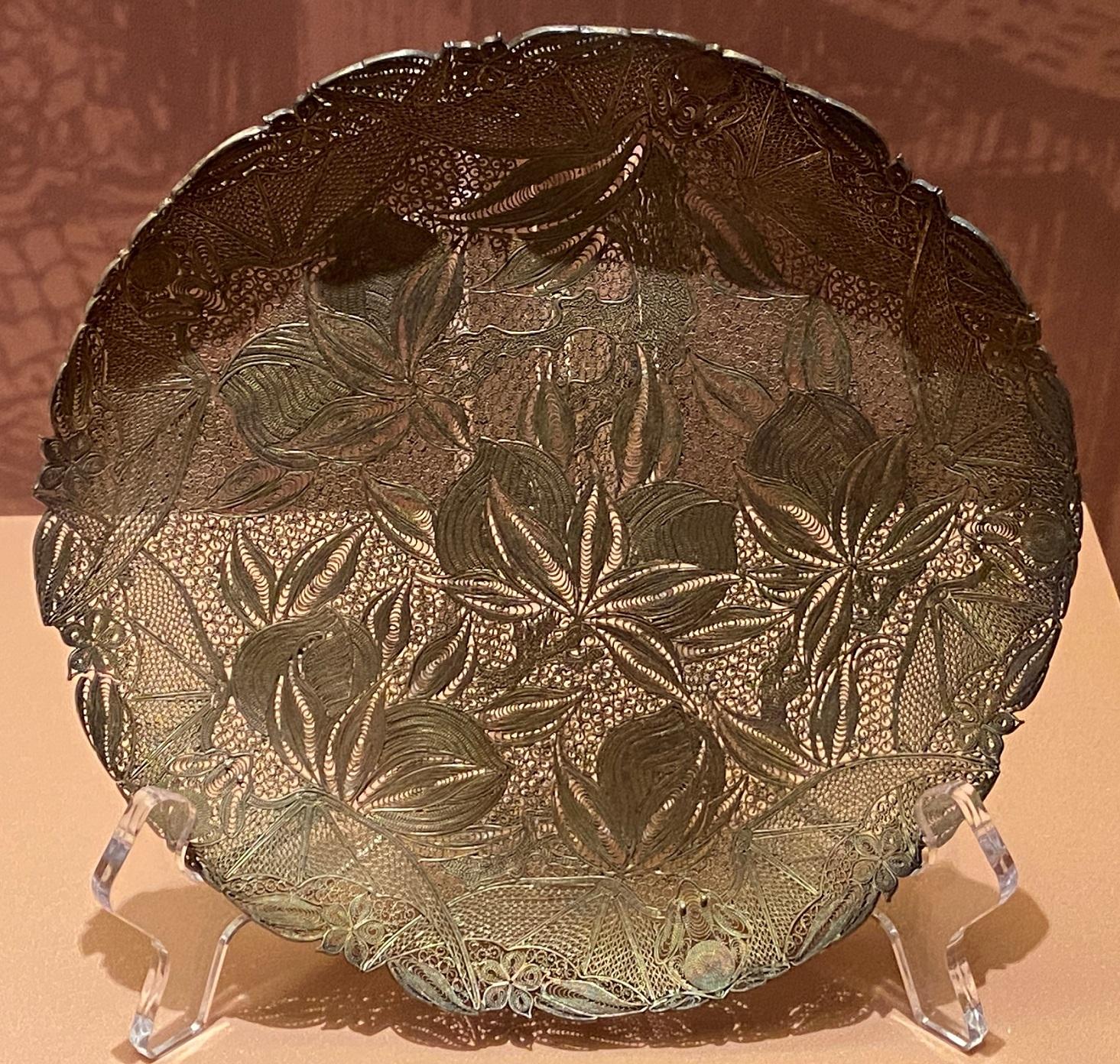 蝠桃銀絲盤-現代-特別展【食味人間】四川博物院・中国国家博物館