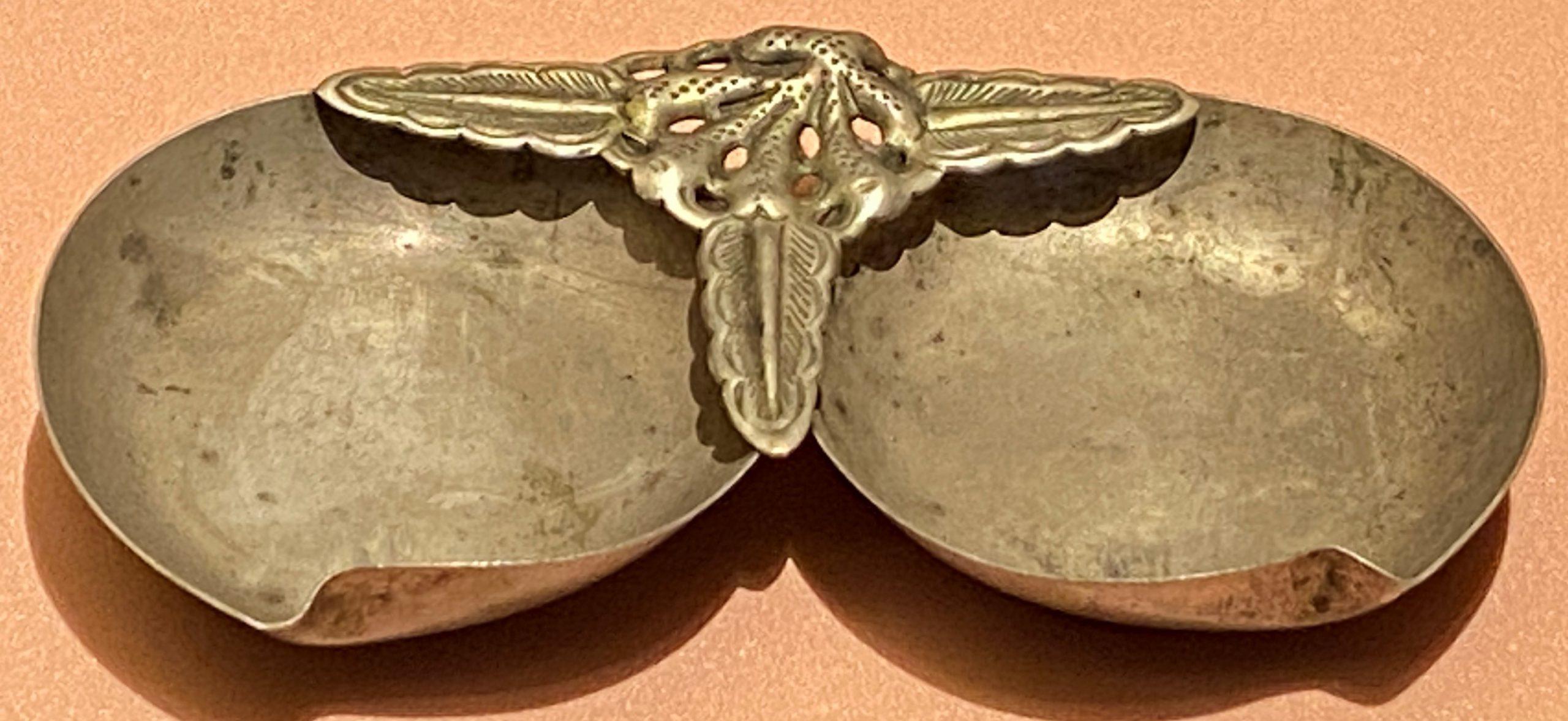 鍍銀小碟-現代-特別展【食味人間】四川博物院・中国国家博物館