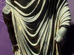 台座に拝火教-仏陀立像-特別展【山高水長・物象千年-シルクルードの文化と交流】四川博物院-平山郁夫シルクロード美術館