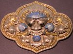 銀鎏金「栄耀の顔」飾件-特別展【七宝玲瓏-ヒマラヤからの芸術珍品】-金沙遺跡博物館-成都