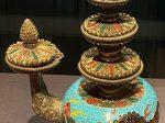 掐絲琺瑯獅紋賁巴壺-特別展【七宝玲瓏-ヒマラヤからの芸術珍品】-金沙遺跡博物館-成都