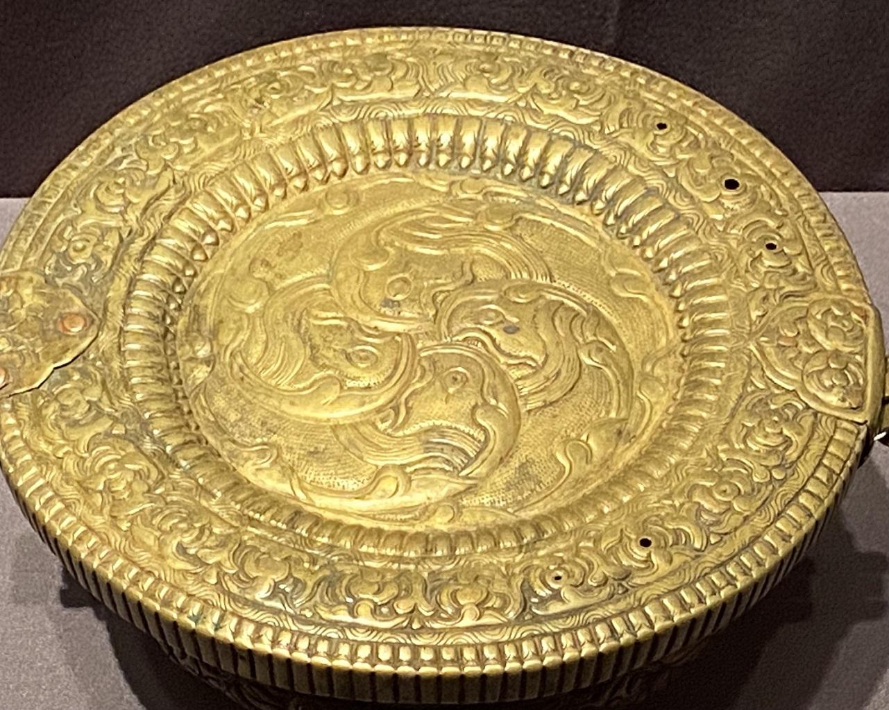 銀鎏金龍紋碗套 -特別展【七宝玲瓏-ヒマラヤからの芸術珍品】-金沙遺跡博物館-成都