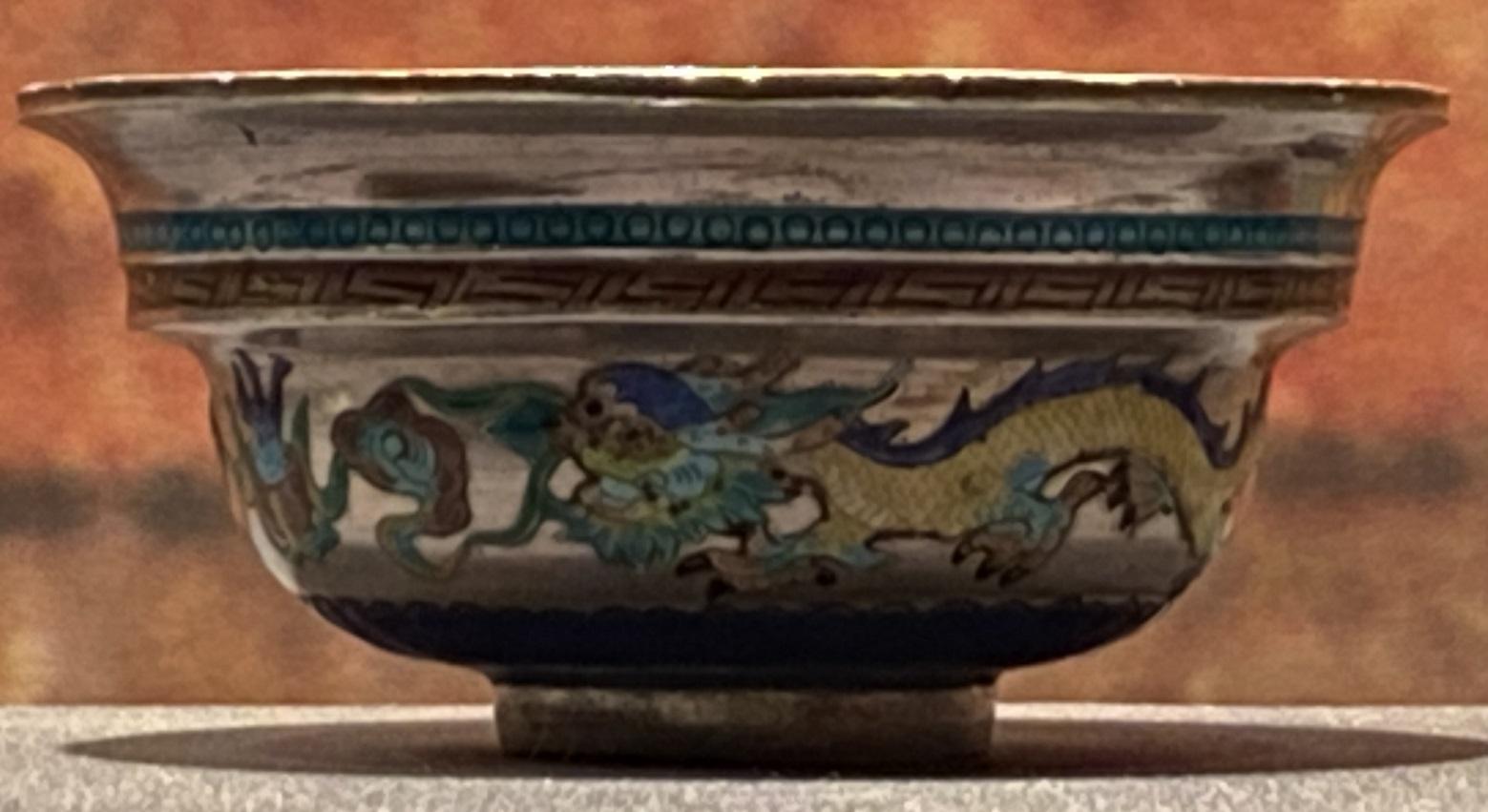 銀焼藍雲龍紋碗-特別展【七宝玲瓏-ヒマラヤからの芸術珍品】-金沙遺跡博物館-成都